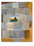 Bodenplatten, 120 x 150 cm, Eitempera/Oel/Leinwand