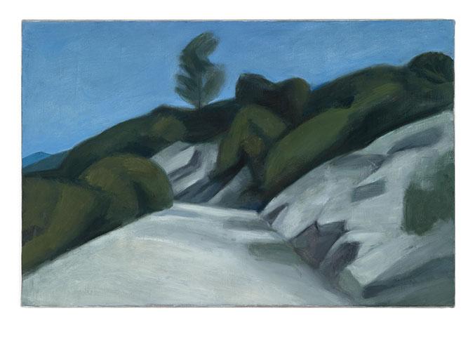 Strasse über Berge, 110 x 73 cm, Oel/Leinwand, 2011