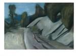 Strasse über die Berge, 75 x 50 cm, Oel/Hartfaser, 2011