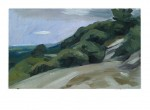 Strasse über die Berge, 41,5 x 25,5 cm, Oel/Sperrholz, 2011