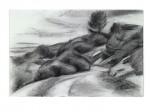 Strasse über die Berge, 48 x 32 cm, Schwarze Kreide/Ingres Papier, 2011