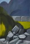 Olympos 02, 46 x 65 cm, Öl auf Leinwand, 2014