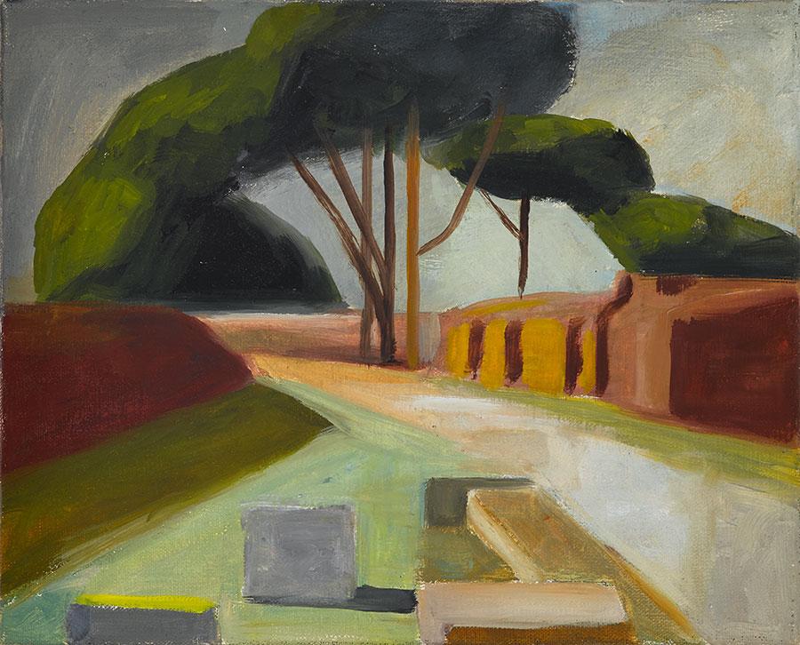 Ostia antica 14, 200 x 170 cm, Öl auf Leinwand, 2013
