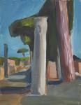Ostia antica Skizze 02,24 x 31 cm,, Öl auf Leinwand, 2013