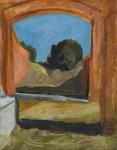 Ostia antica Skizze 03, 33 x 42 cm, Öl auf Leinwand, 2013