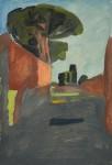 Ostia antica Skizze 04, 33 x 49 cm, Öl auf Leinwand, 2013
