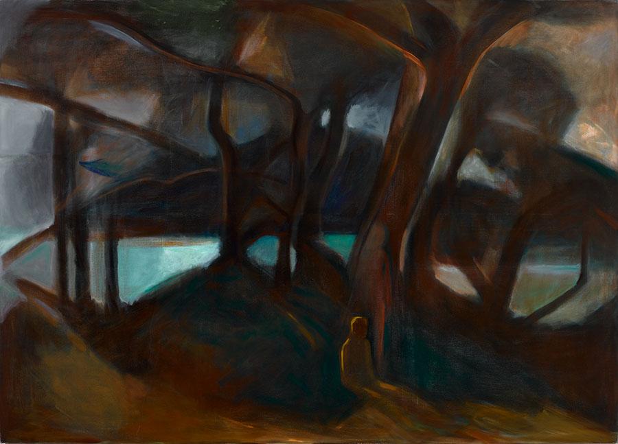 Phaselis 01, 250 x 180cm, Öl auf Leinwand, 2014