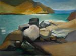 Steine am Meer, 200 x 150 cm, Öl auf Leinwand, 2012